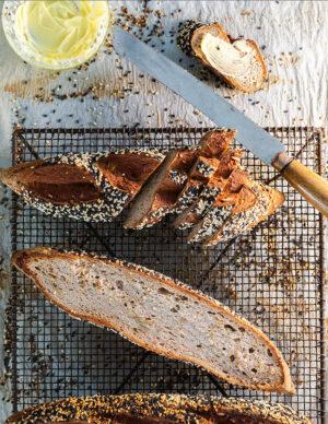 sourdough baguette seeded