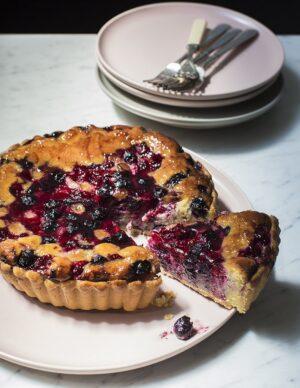 Gluten-free Frangipane Mixed Seasonal Berries Whole Tart