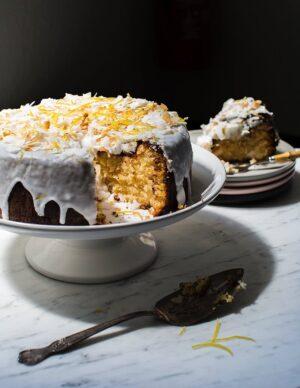 Gluten-free Lemon Coconut Cake dairy-free and grain-free