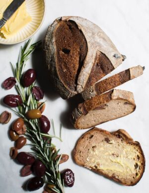 Gluten-free Vegan Sourdough Bread Olive And Rosemary