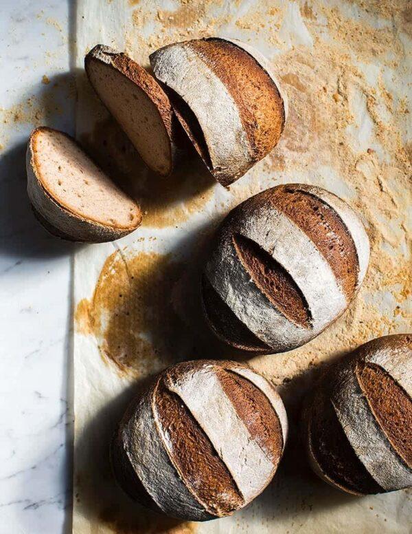 Gluten-free vegan Sourdough Bread Plain