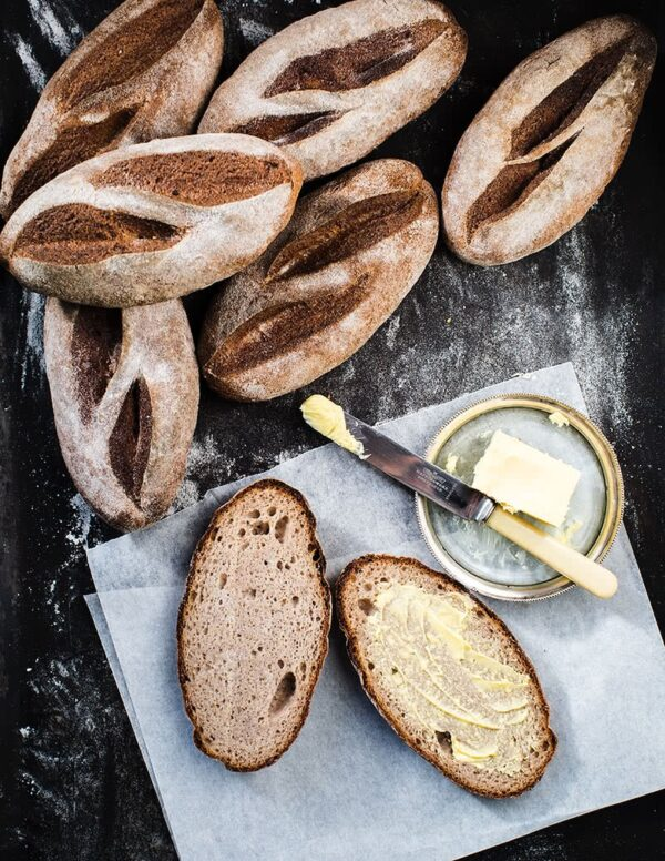 Sourdough Lunch Roll Plain gluten-free vegan bread