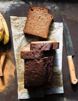 Gluten-free dairy-free Banana Bread Loaf