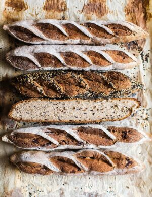 Baguette gluten-free and vegan.