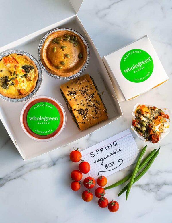 wholegreen bakery gluten free spring vegetable box